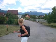 bežíme cez Turany, radosť pozerať od spodu včerajšiu trasu