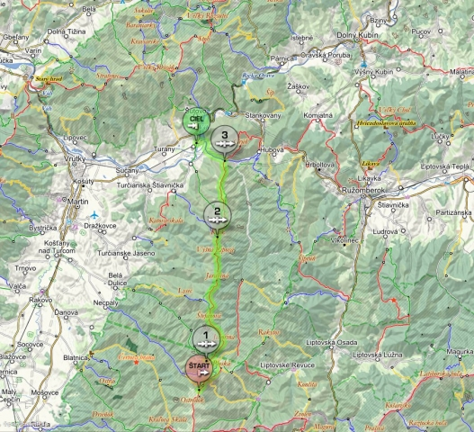 32 km od salašu pod Suchým vrchom po Krpeľany