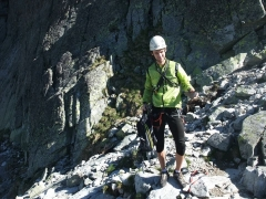 pred lezením v Tatrách, nabalený naľahko