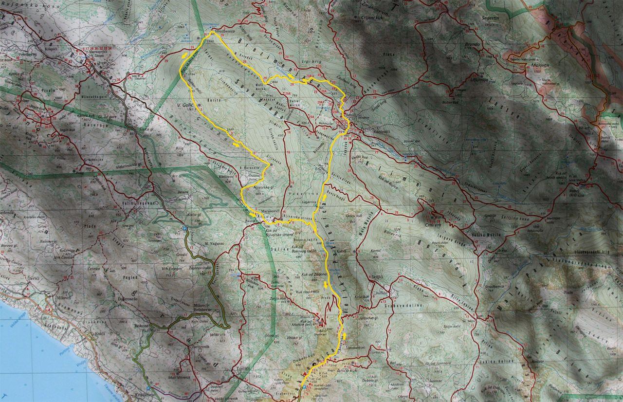NP Velika Paklenica - mapa