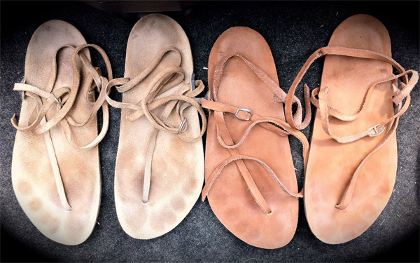 Huarache - bežecké bežecké sandále z kože