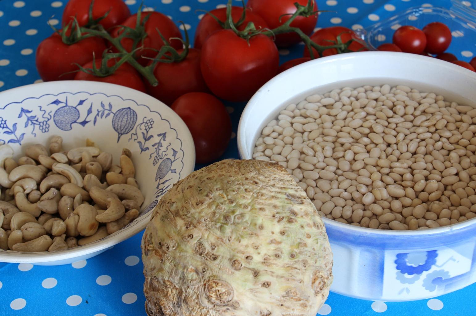 jedlo pre bežcov a strukoviny s kešu orieškami