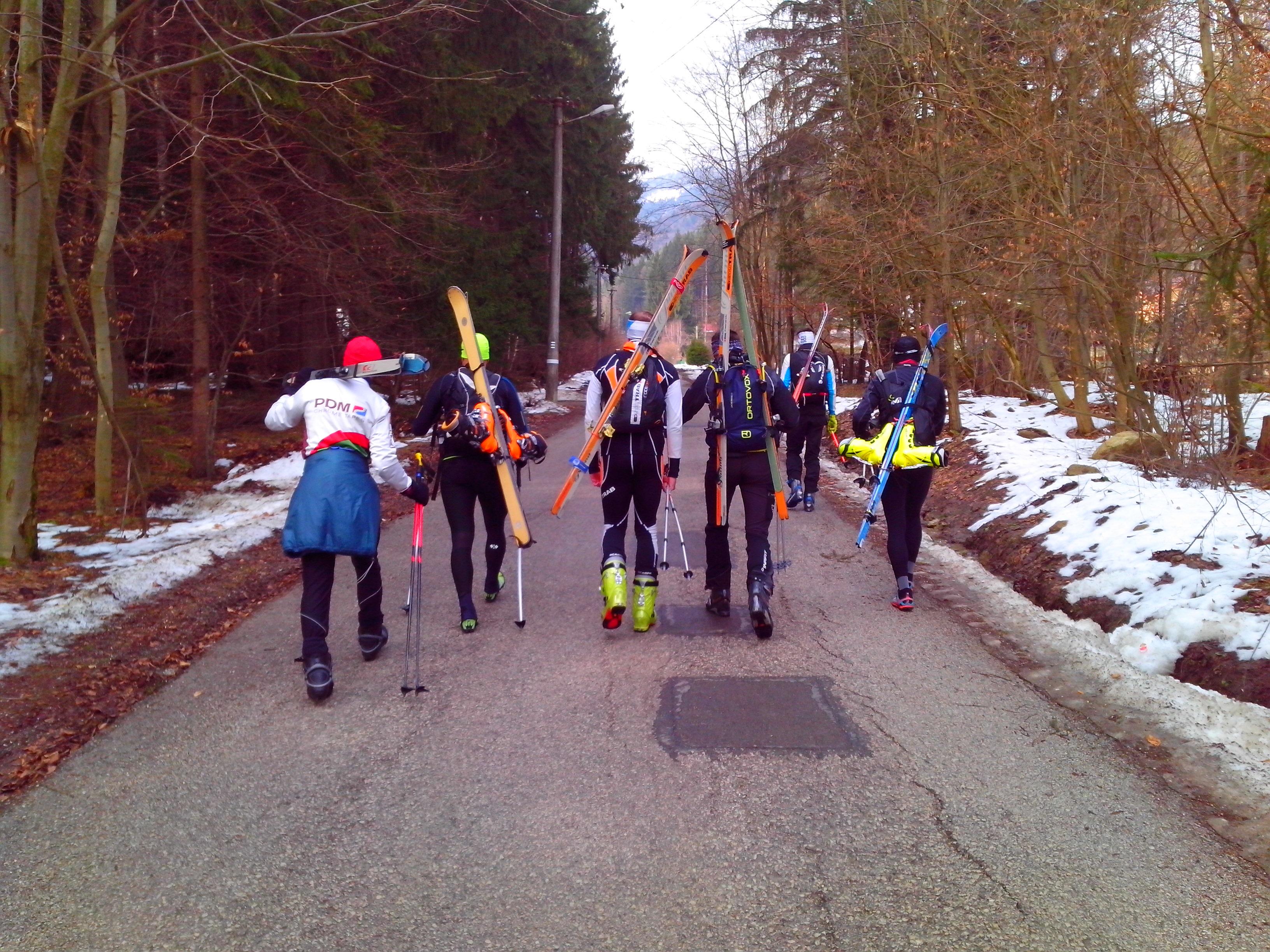 prvá skupina presun na start