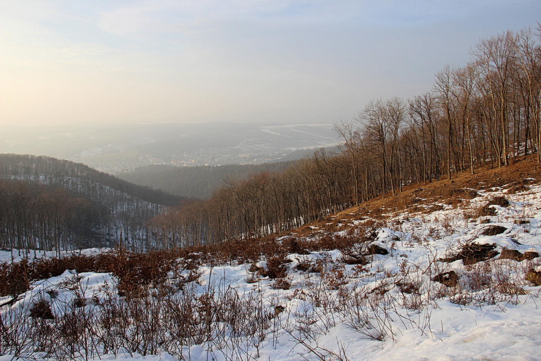 Výhľad spod Jankovho vŕšku na obec Uhrovec