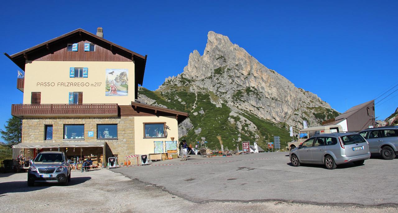 Passo Falzarego, Sass de Stria, Dolomity