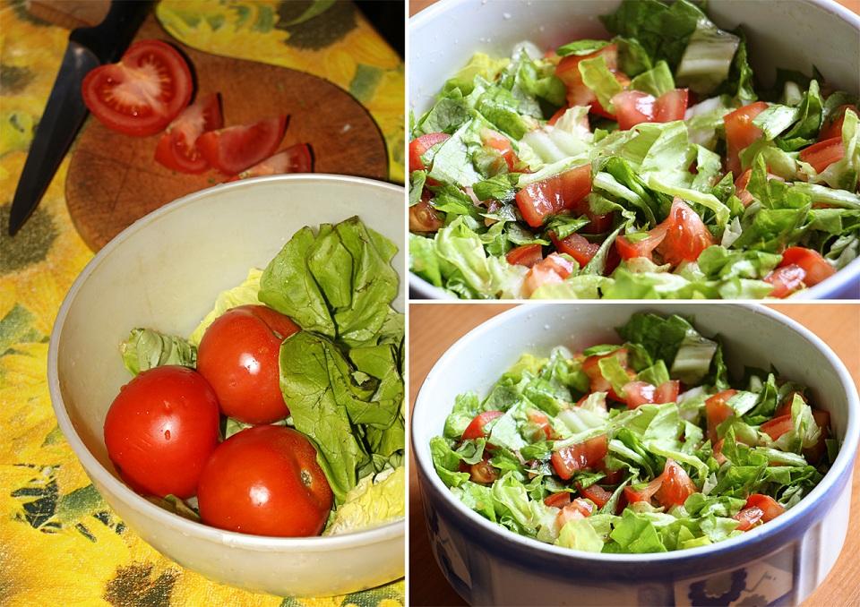 Jednoduchý zeleninkový šalá