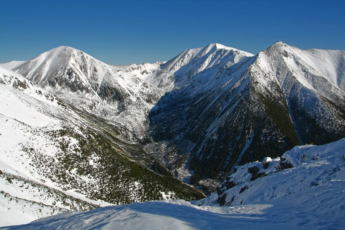 Otrhance pohľad do Račkovej doliny Západné Tatry