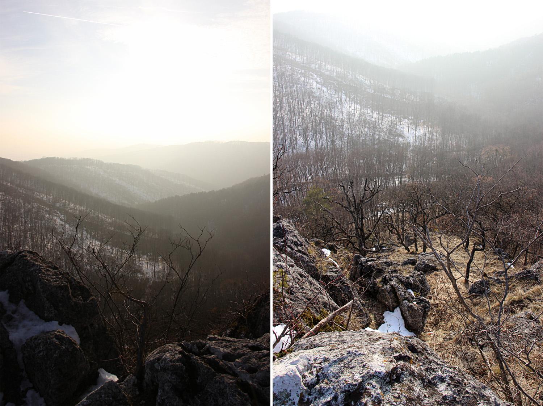 Lesy a skalné bradlá nad Jankovým vŕškom