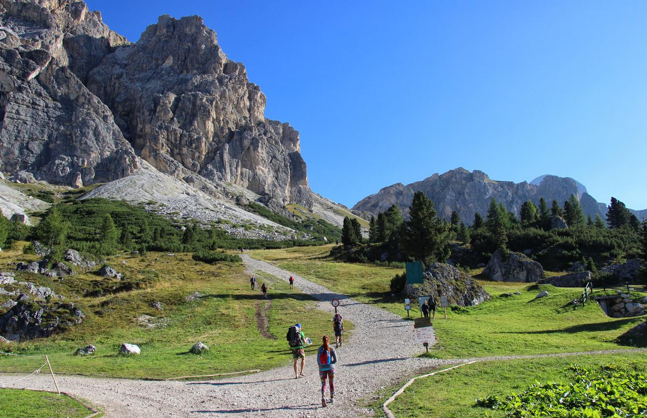 Passo Falzarego, Dolomity