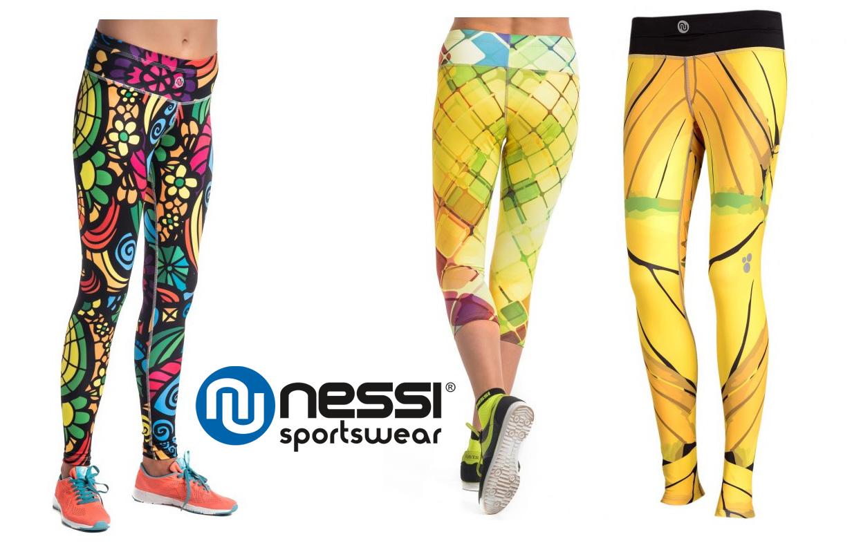 Dlhé bežecké/fitness legíny Nessi - rôzne farby a motívy