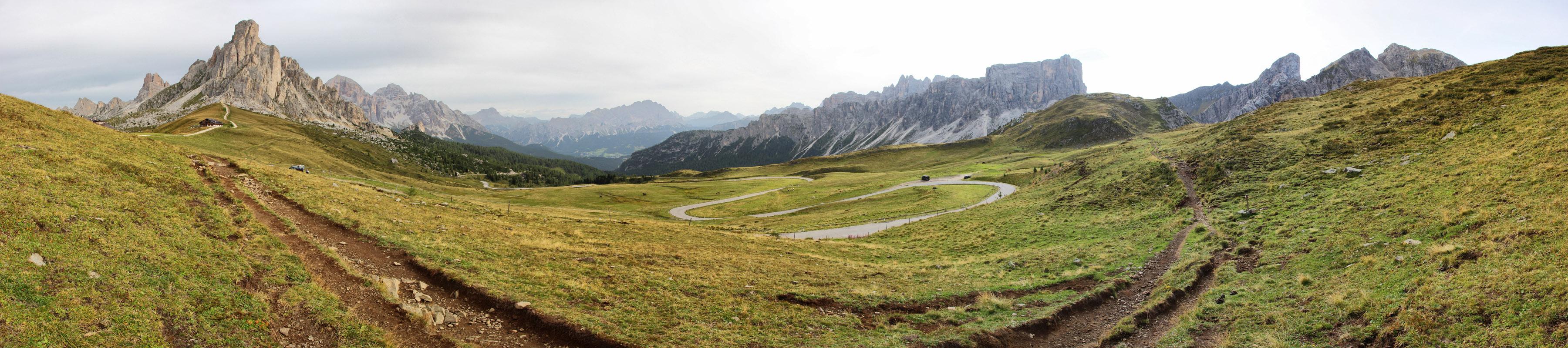 Panoráma z Passo di Giau, Dolomity
