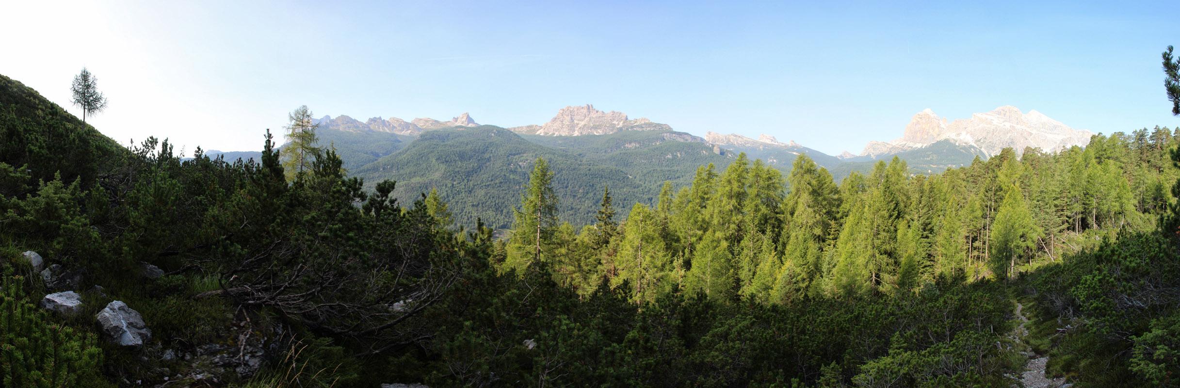 Panoráma Tofane a Lago Federa, Dolomity
