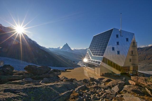 Chata Monte Rosa Hut, Alpy, Švajčiarsko, zdroj: swissinfo.ch