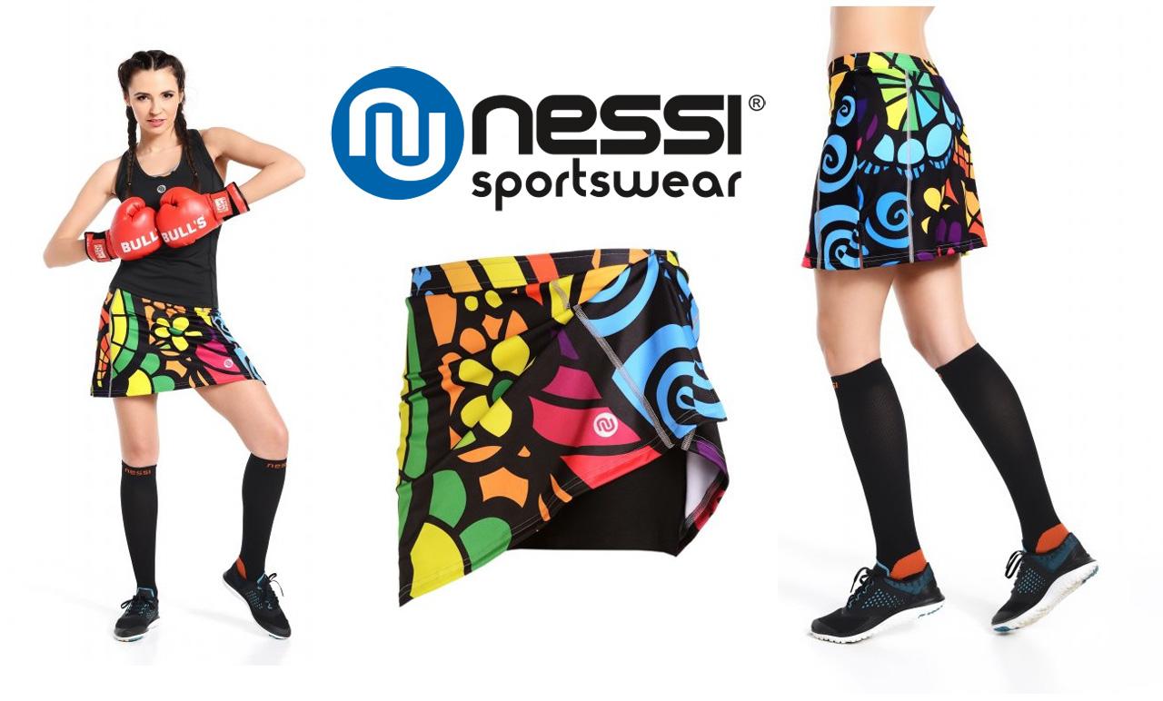 Športová sukňa so šortkami - Nessi Mosaic