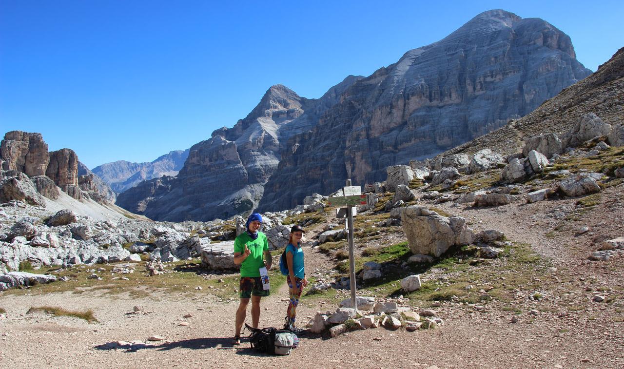 Forcella Travenanzes, Dolomity
