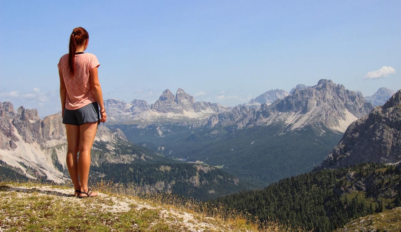 Pohľad z Tondi smerom na Misurinu a Tre Cime, Dolomity