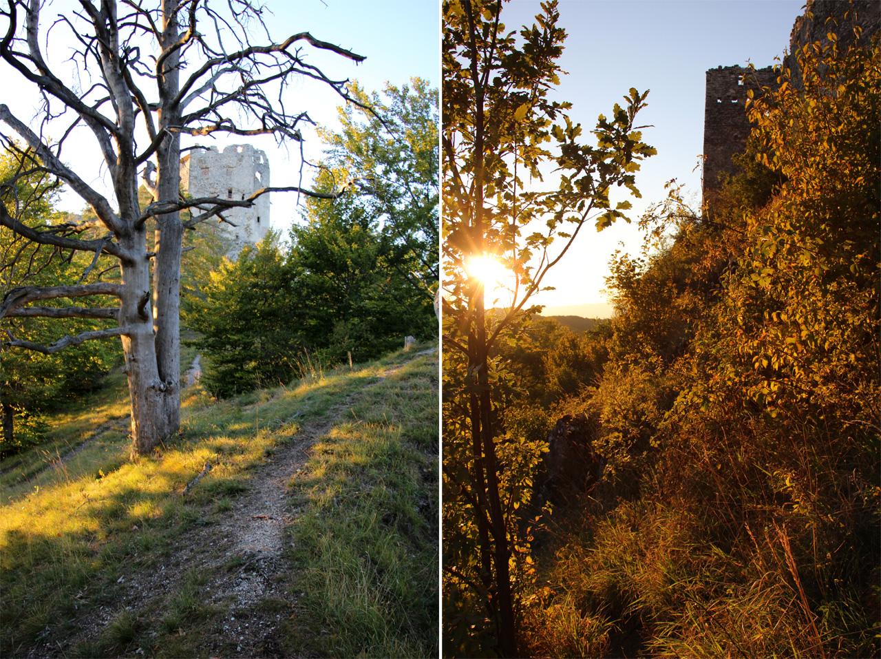 Západ slnka pri Uhrovskom hrade