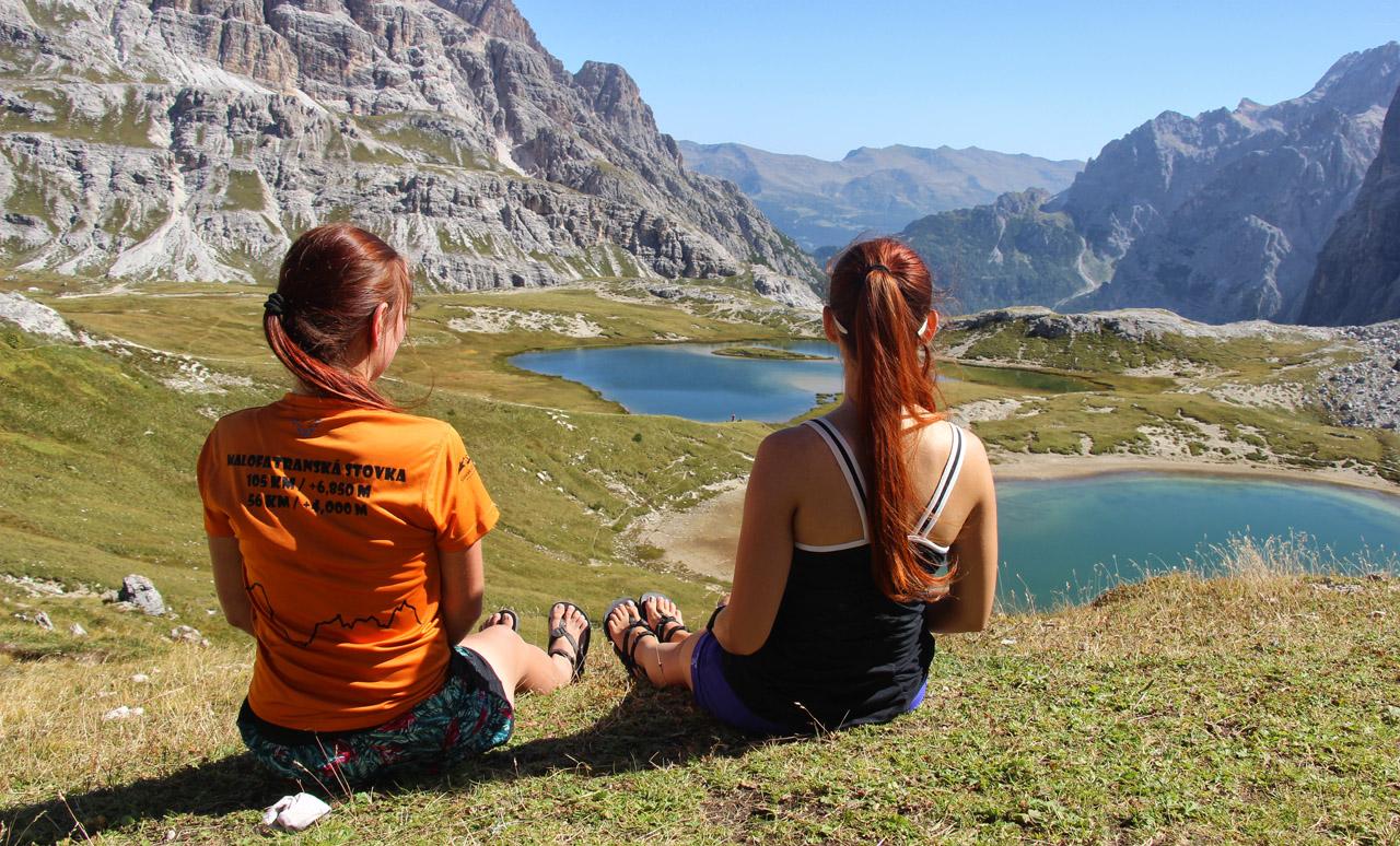 Luna sandals pri Lago dei Piani, Dolomity
