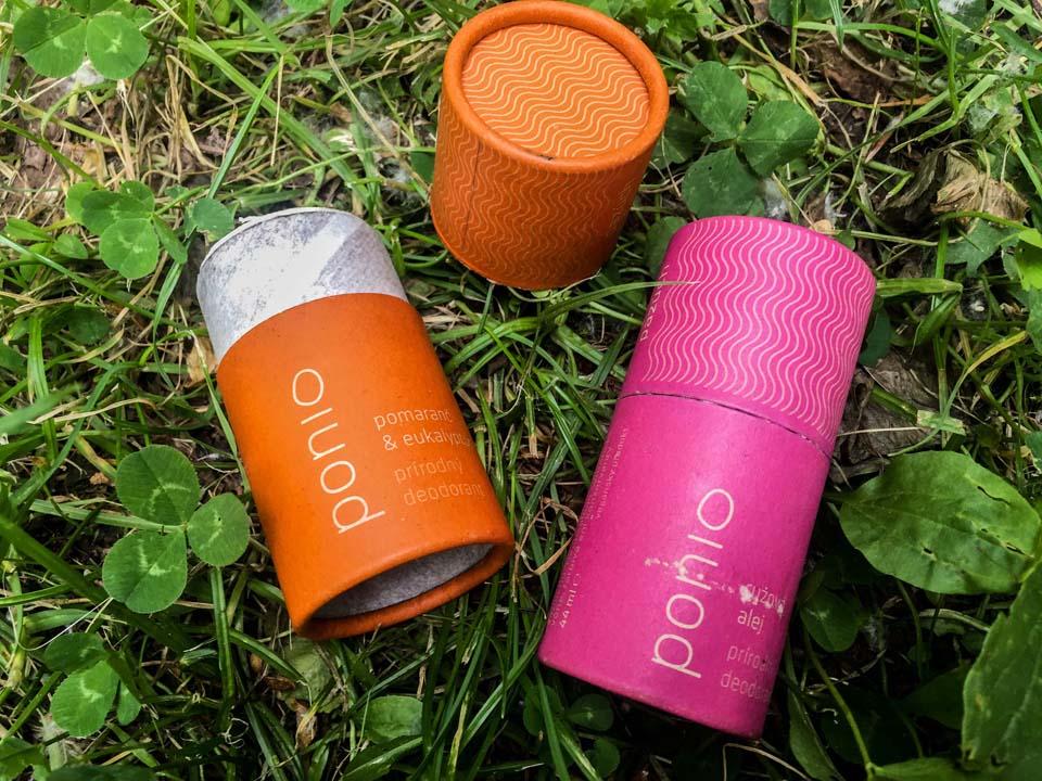 Prírodný dezodorant Ponio v recyklovateľnom papierovom obale