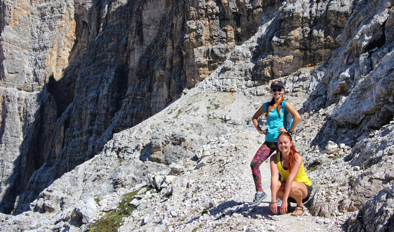 Pod sedlom Forcella Grande, Dolomity