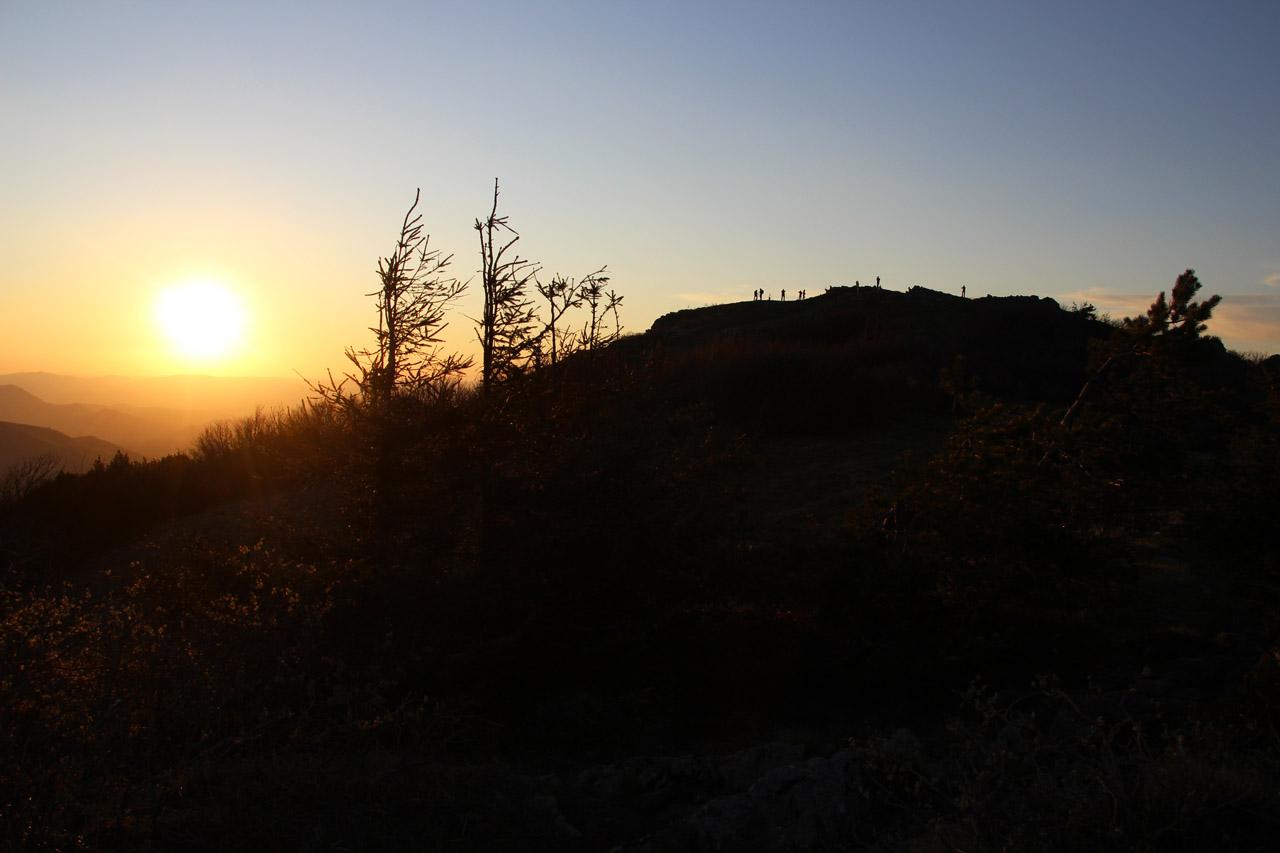 západ slnka na Kľaku, Malá Fatra