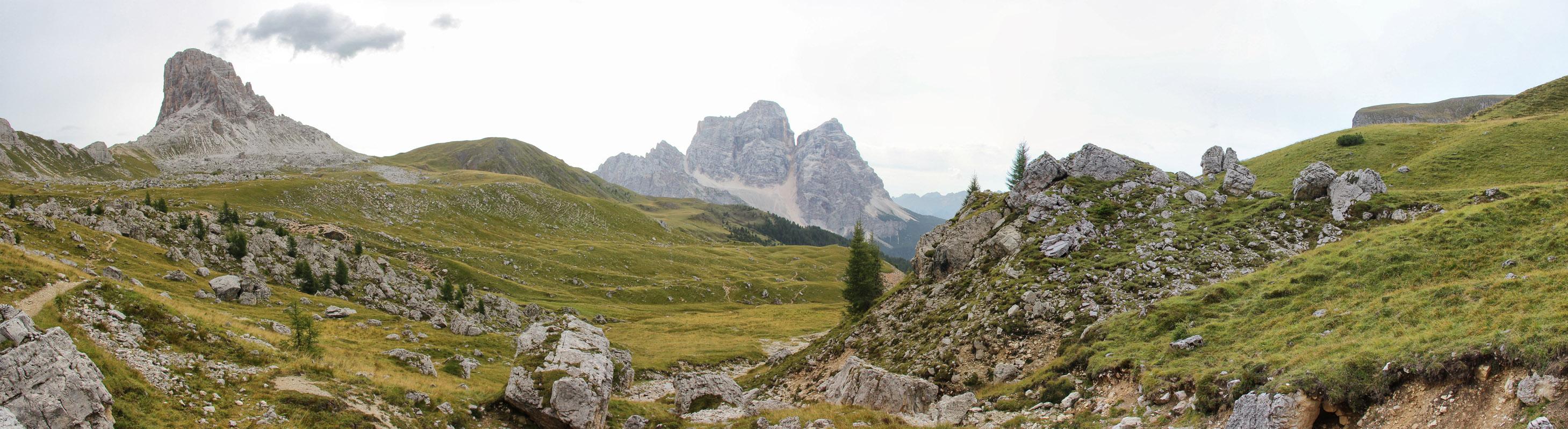 Panoráma Becco di Mezzodi, Dolomity