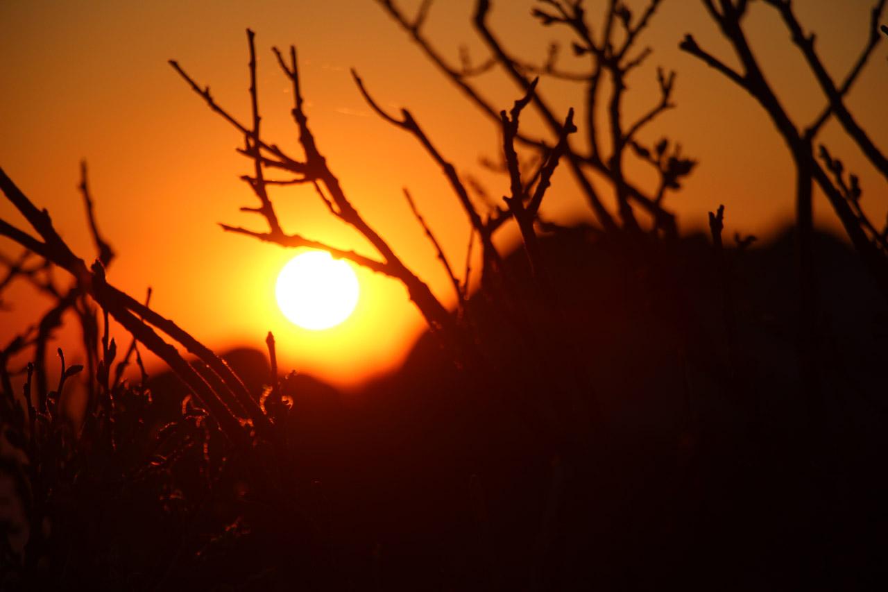 západ slnka na Kľaku