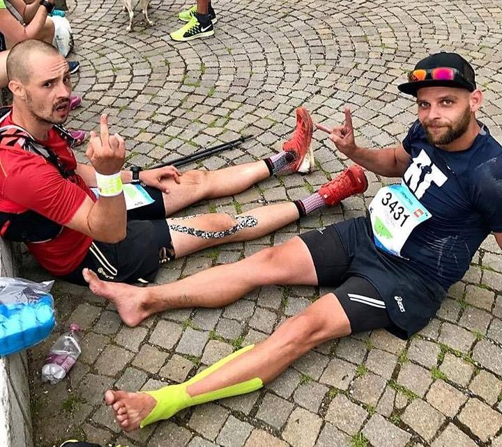 Michal Fronc a Michal Ragač v cieli Cortina Ultra Trail