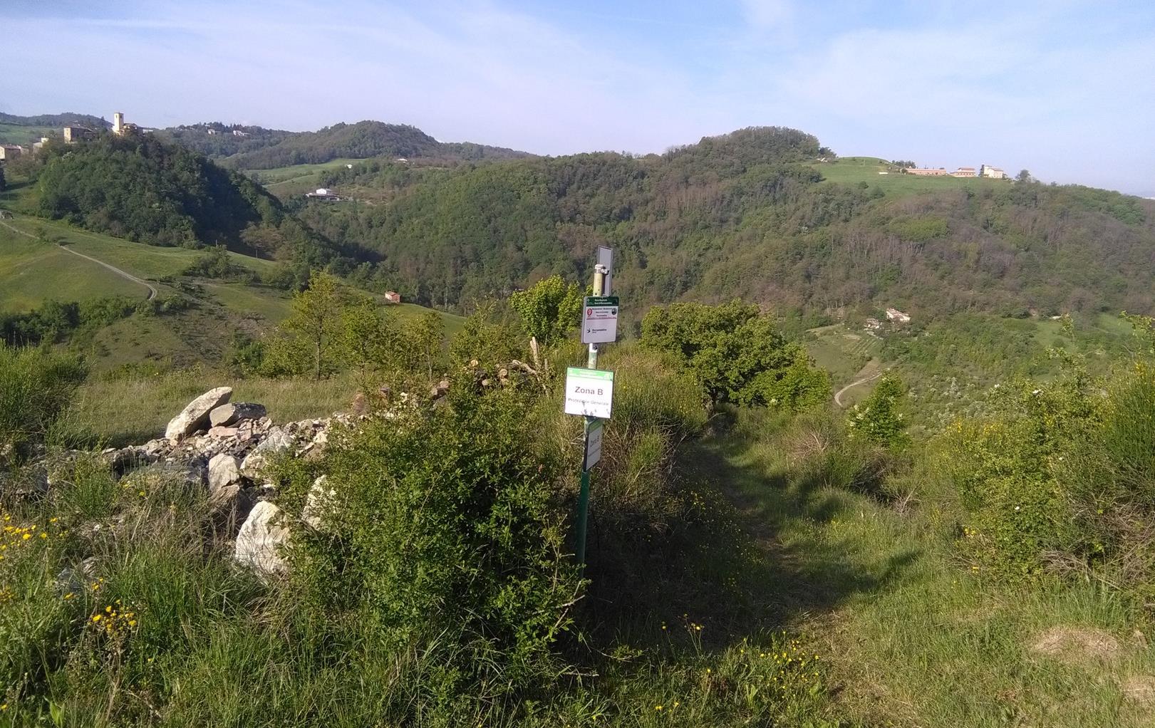 Trail Della Riva - Dole smer Rocca Malatina