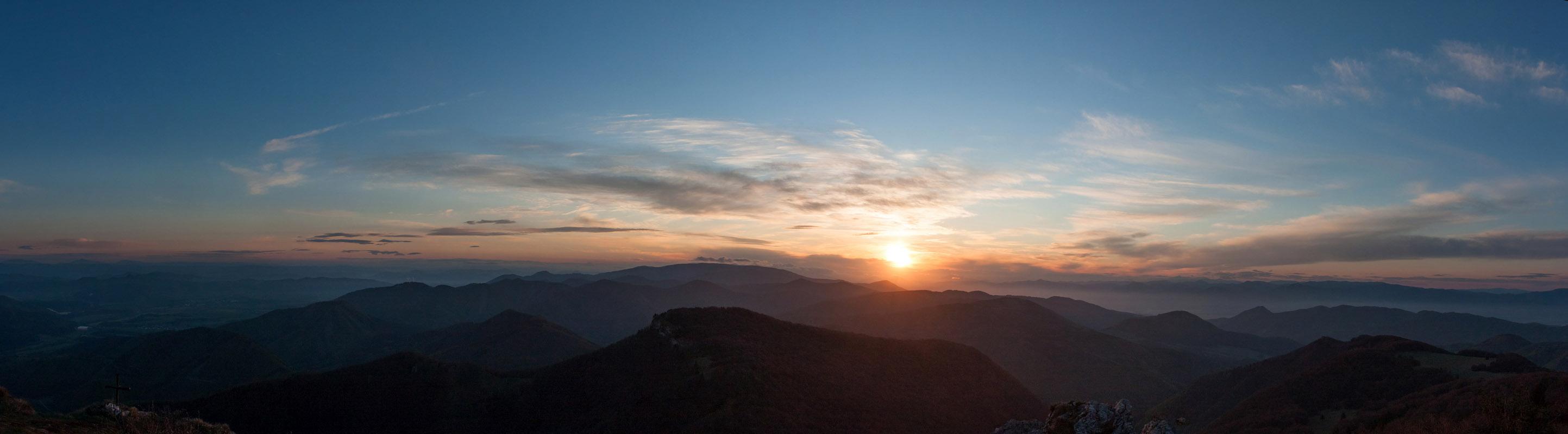 panoráma východu slnka z Kľaku