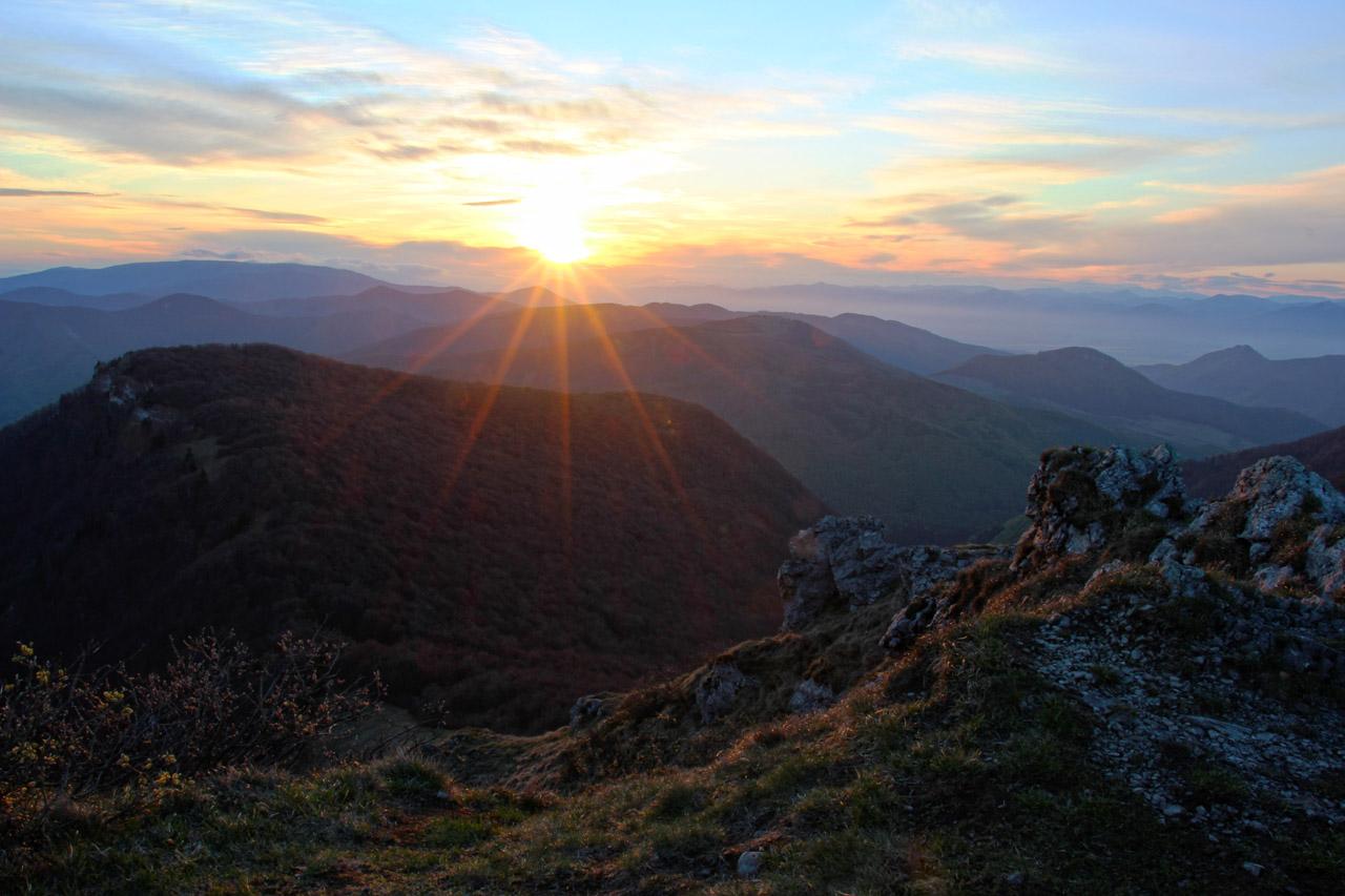 východ slnka z Kľaku