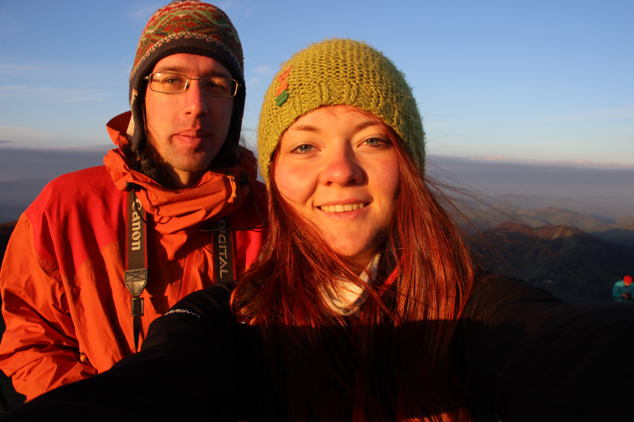 Katka a Michalko pri východe slnka