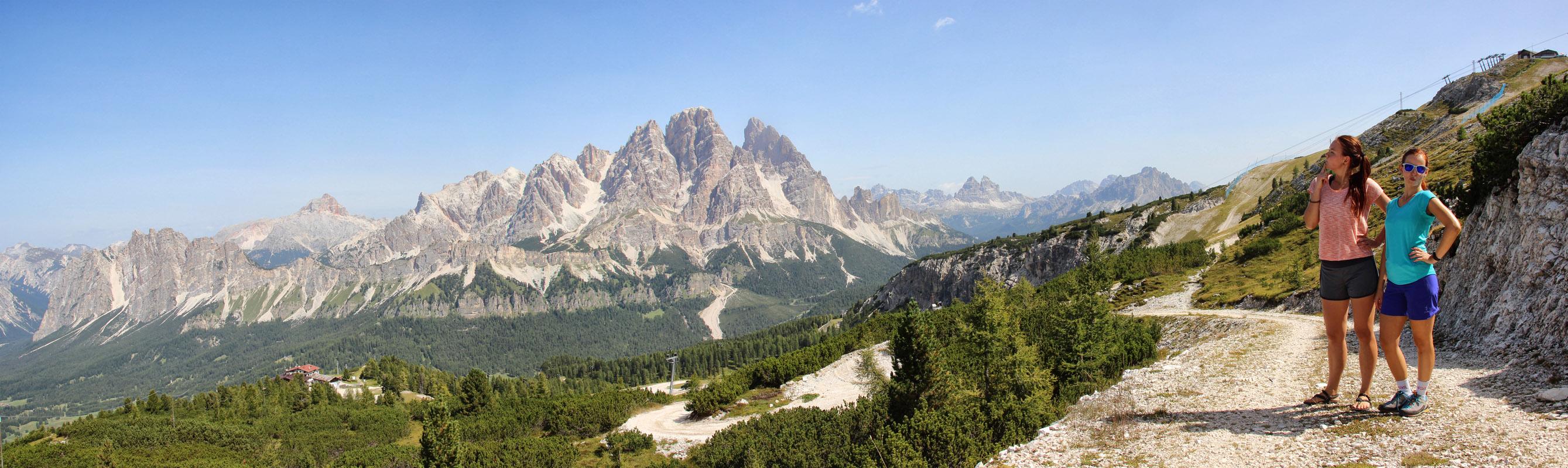 Panoráma Monte Cristallo a Rifugio Faloria nad Cortinou d'Ampezzo, Dolomity