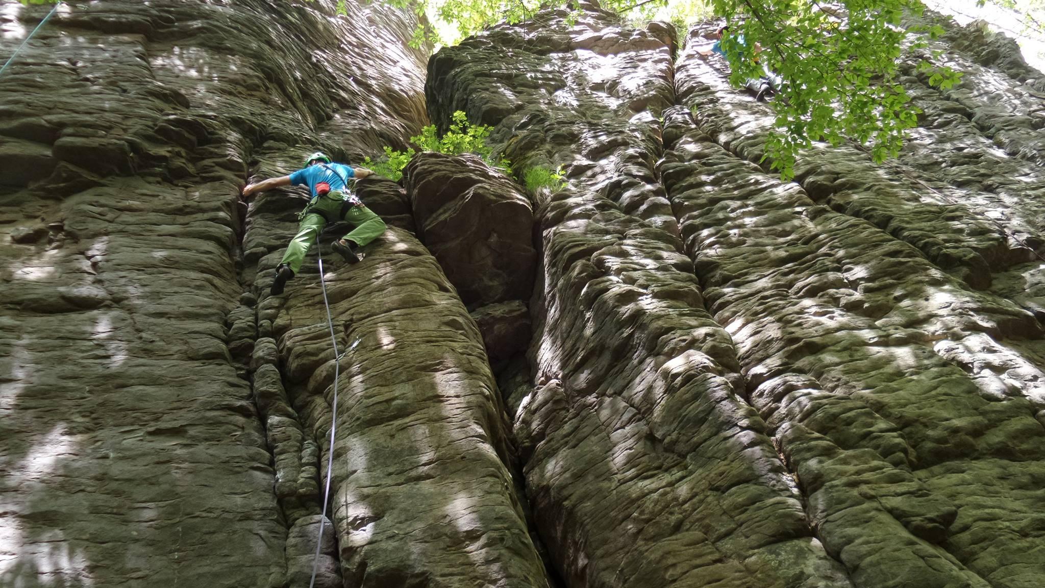 Slovenské skaly, Kaľamárka, spodné skaly, vhodné pre začiatočníka
