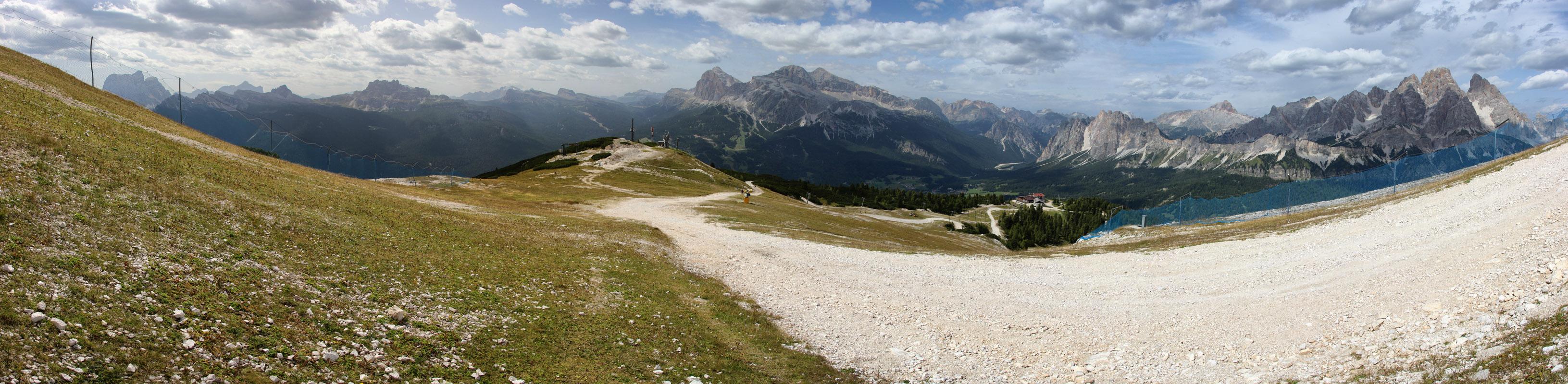 Panoráma Monte Cristallo, Tofane, La Rocheta a Cima Ambrizzola, Dolomity