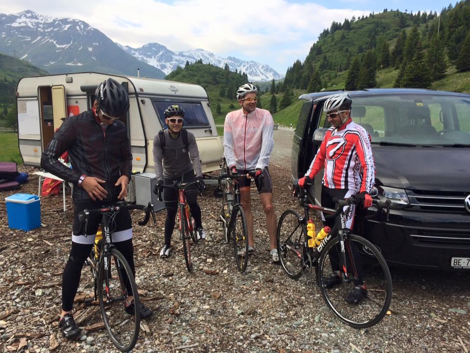 82 summits, transporting on bikes