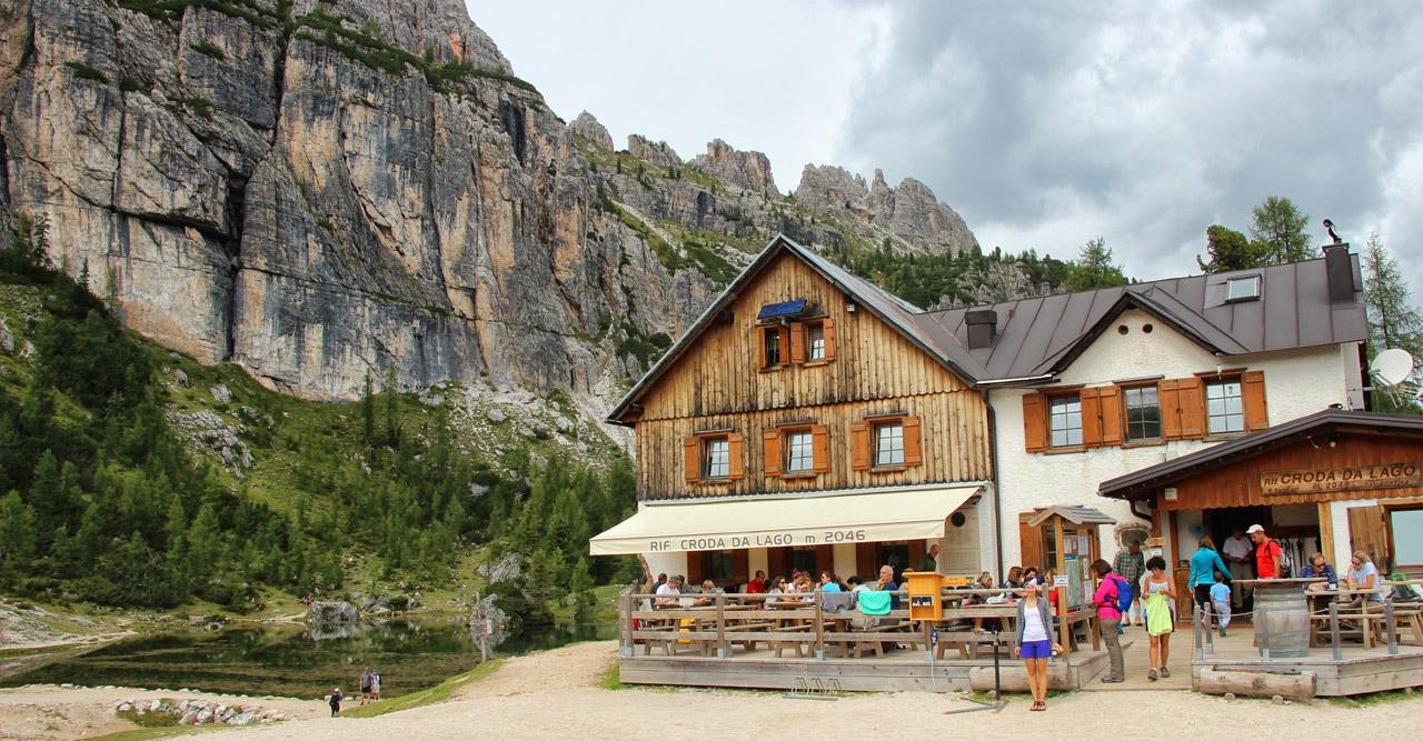 Rifugio Croda di Lago, Dolomity