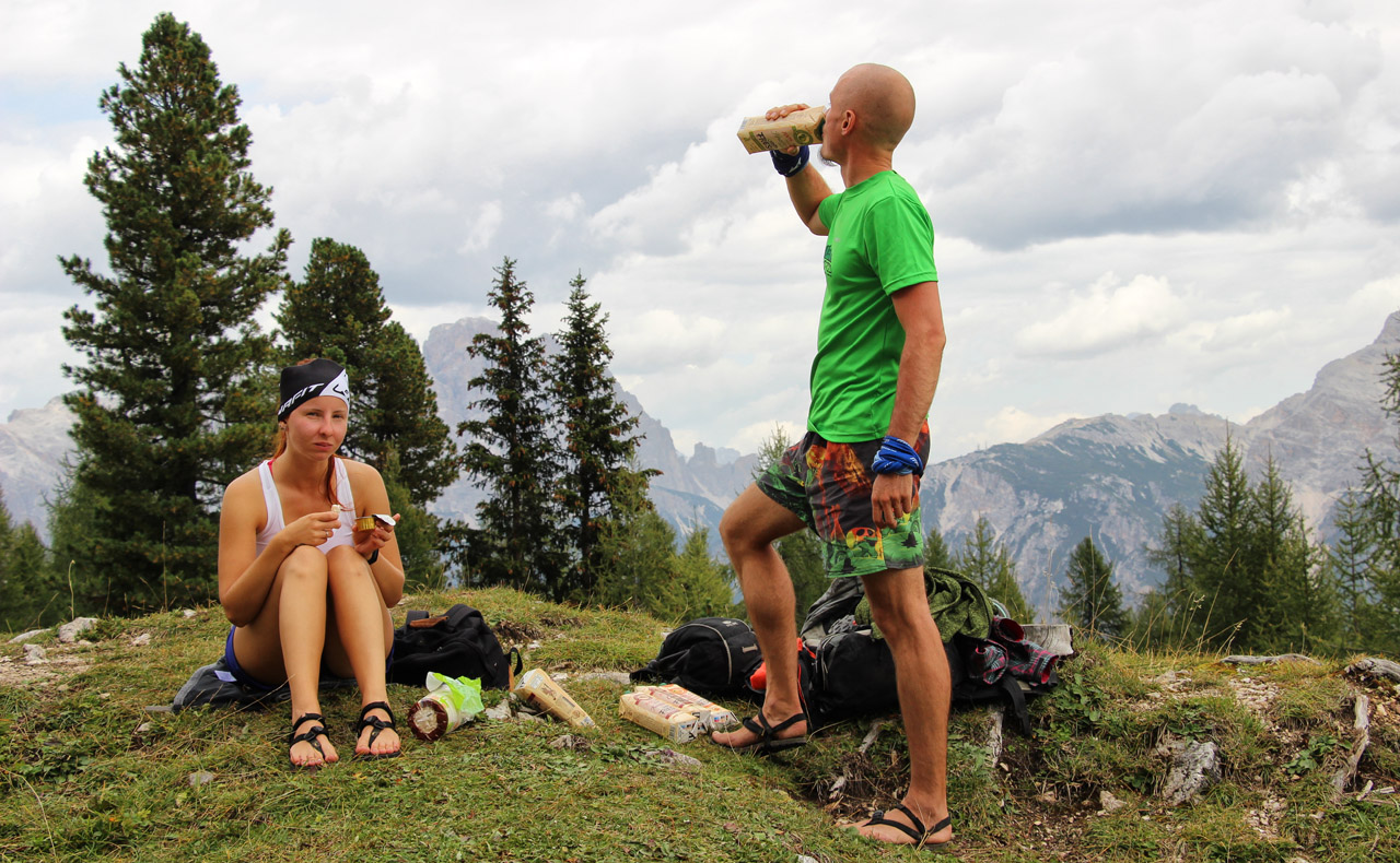 Luna sandals pri Rifugio Croda di Lago, Dolomity