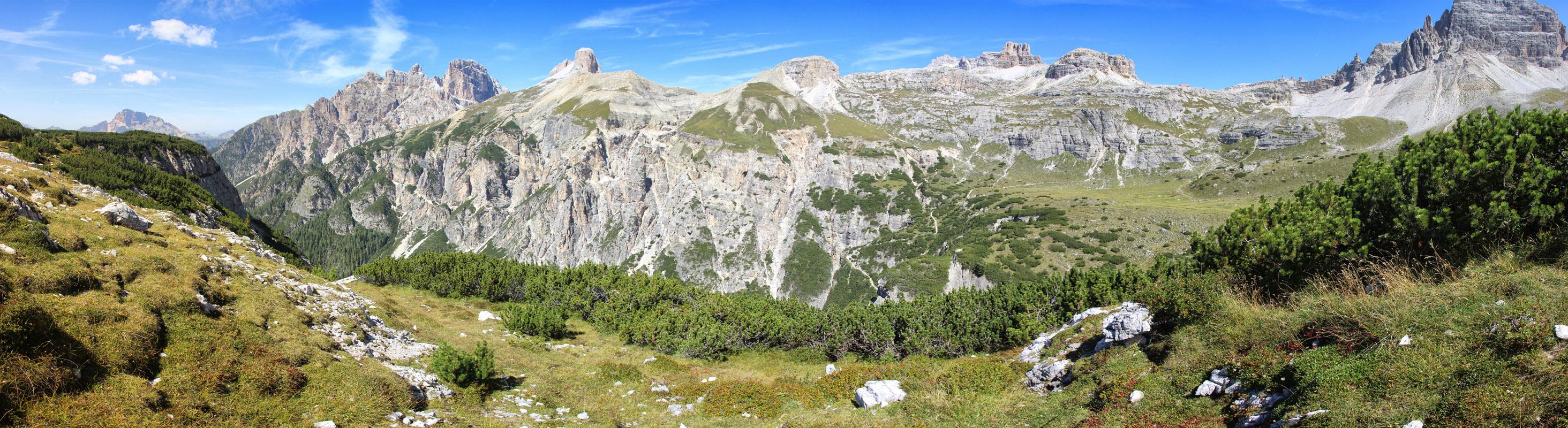 Panoráma Monte Rudo, Torre dei Scarperi, Torre di Toblin, Dolomity