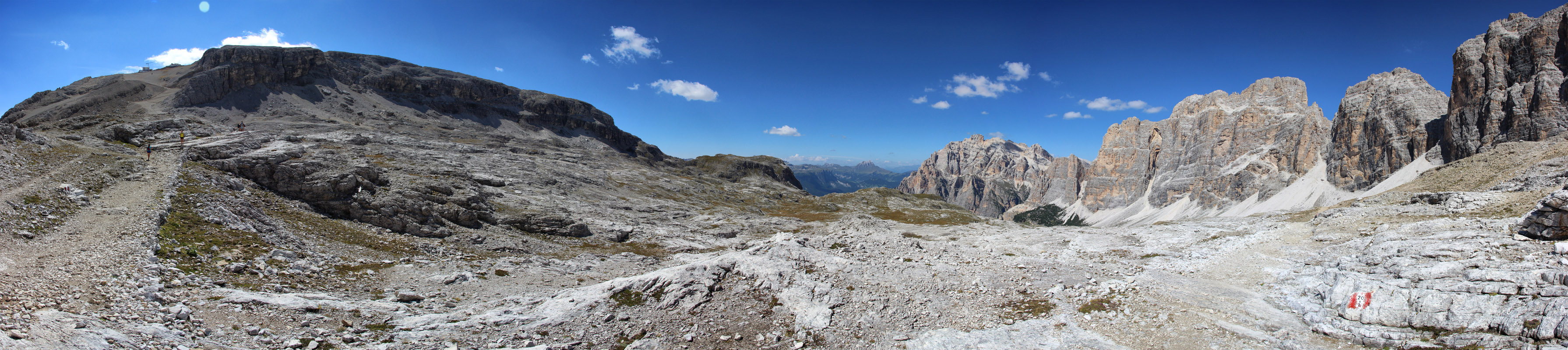 Panoráma Lagazuoi, Piza de Lech, Cima Scotoni a Cima Fanes, Dolomity