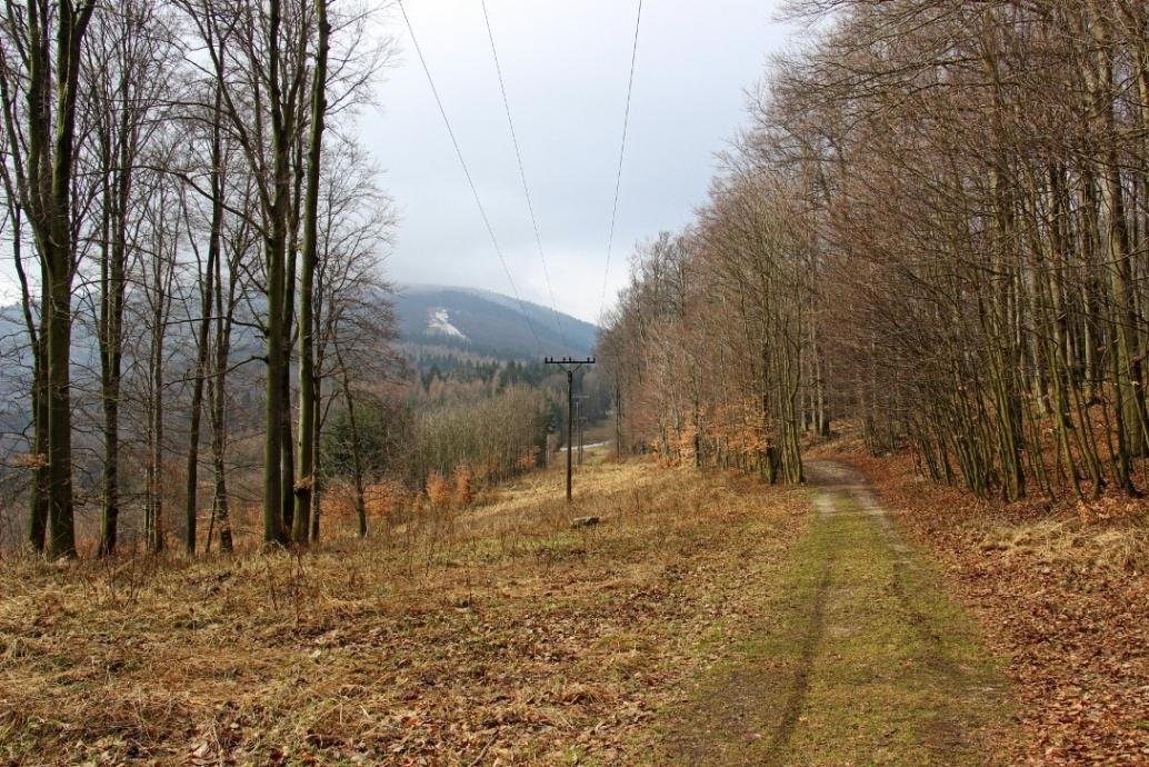"""Pohľad na vrchol kúsok pod chatou počas Inoveckého """"maratónu"""" - koniec marca"""