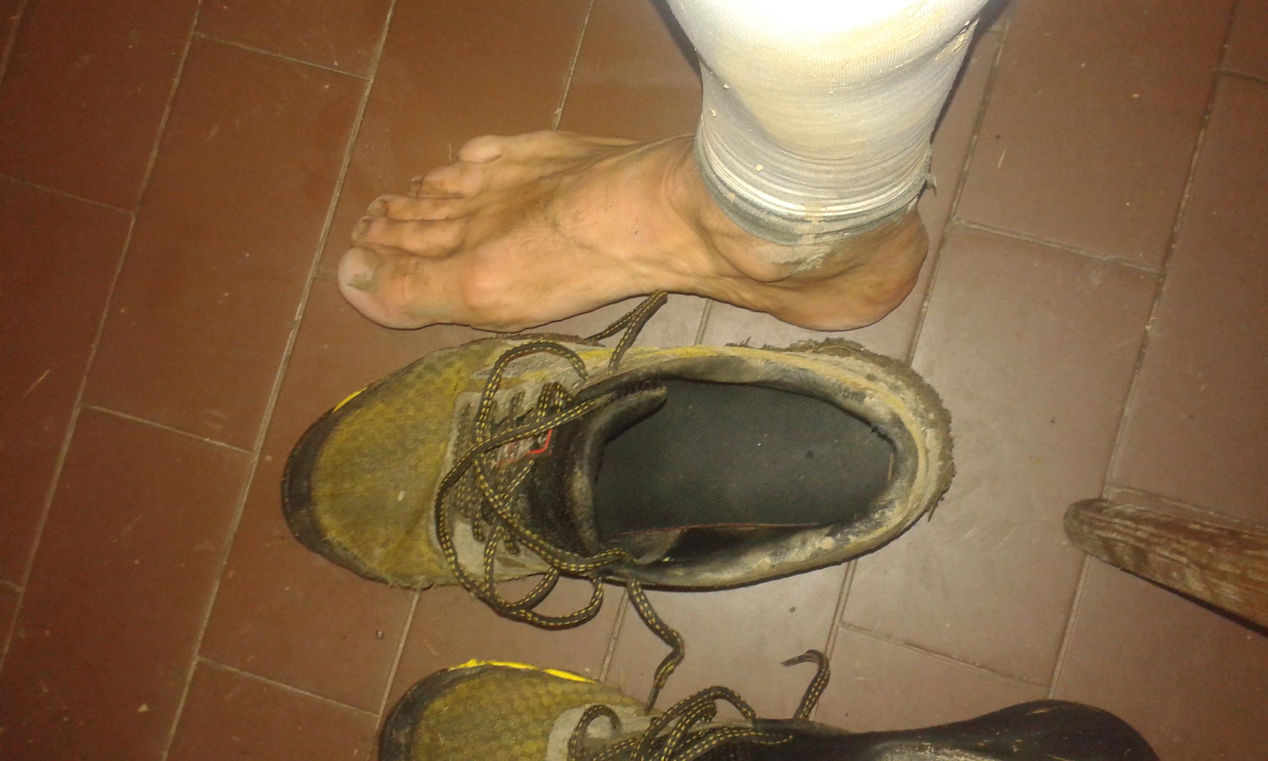 Javornícka stovka 2015: Premočené nohy a ponožky