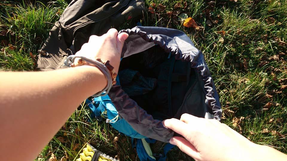 Sťahovacia gumička na ruksaku Ferrino Finisterre 40 Lady - turistický batoh