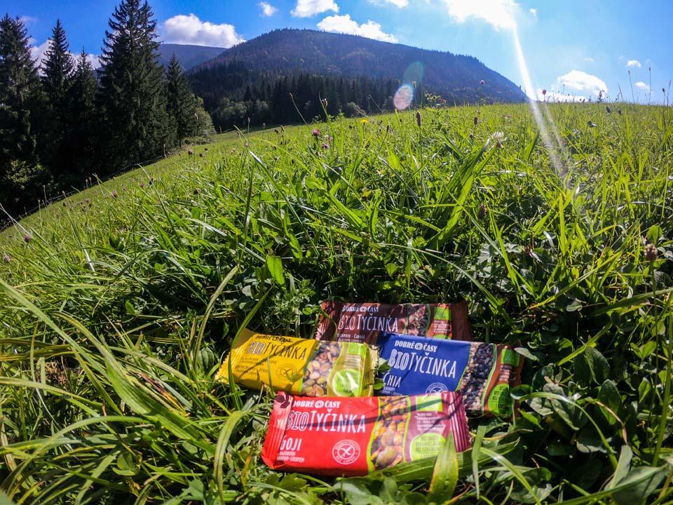 Výlet na Choč, z ktorého sú nádherné vyhľady na všetky pohoria vokolí. Ani tam nechýbali tyčinky Dobré časy