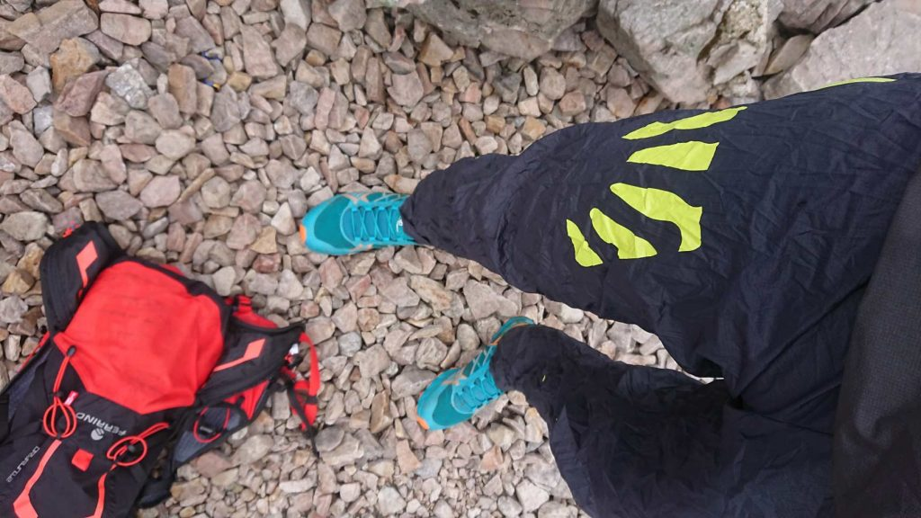 Vodeodolné nohavice Karpos Lot. Sú súčasťou mojej nepremokavej výbavy.
