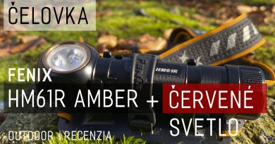 Titulnú fotka pre outdoor recenziu čelovky HM61R Amber