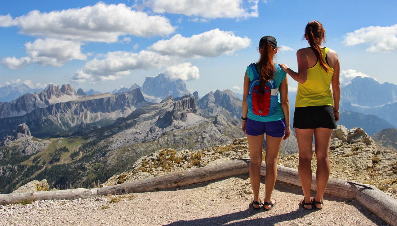 Výhľad pri Rifugio Lagazuoi, Dolomity