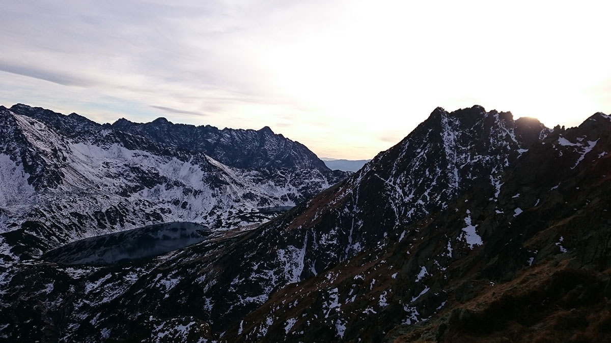 Sedlo Krzyzne - zostup z Perci, Vysoké Tatry