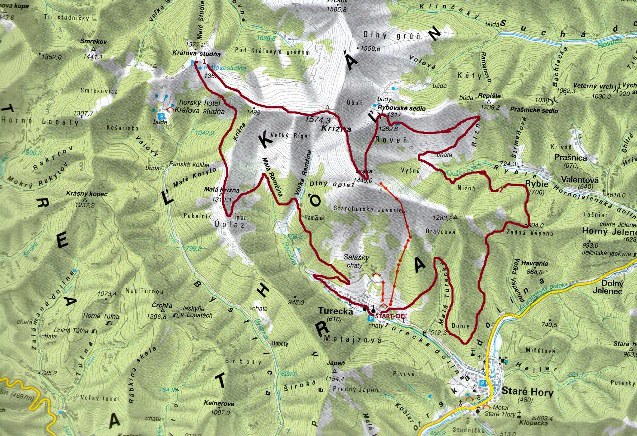 Expresky z hôr 45 - Krížna, krížom, krážom 25 km trať