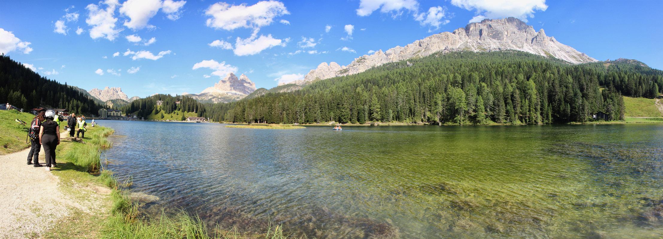 Panoráma Lago di Misurina a Tre Cime